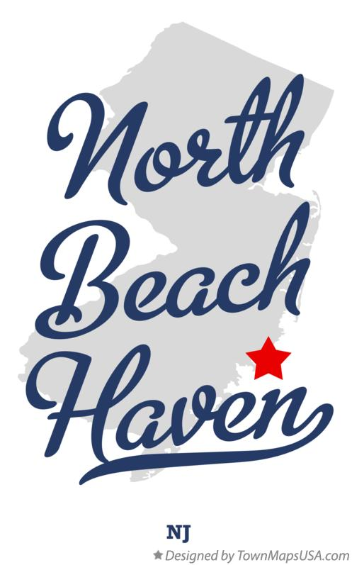 Map of North Beach Haven New Jersey NJ
