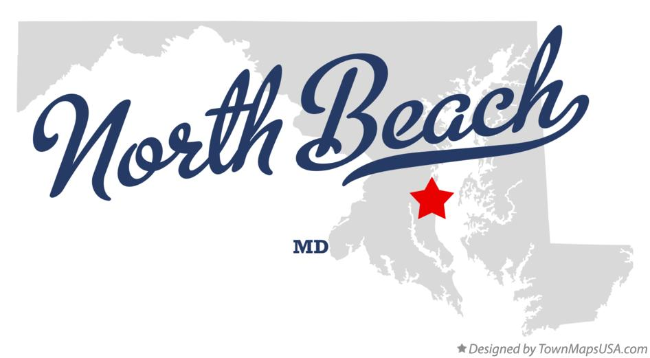 Map of North Beach Maryland MD