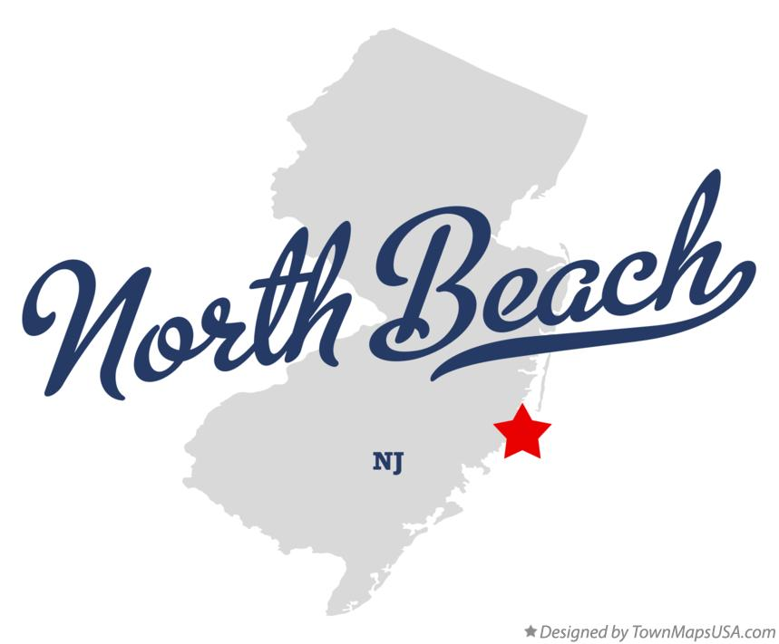 Map of North Beach New Jersey NJ
