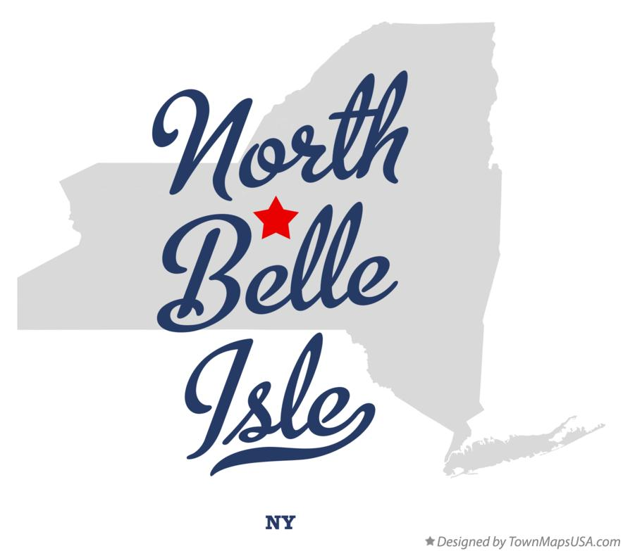 Map of North Belle Isle New York NY