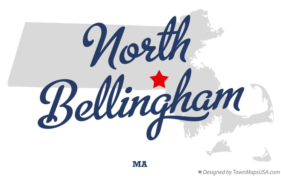 Map of North Bellingham Massachusetts MA