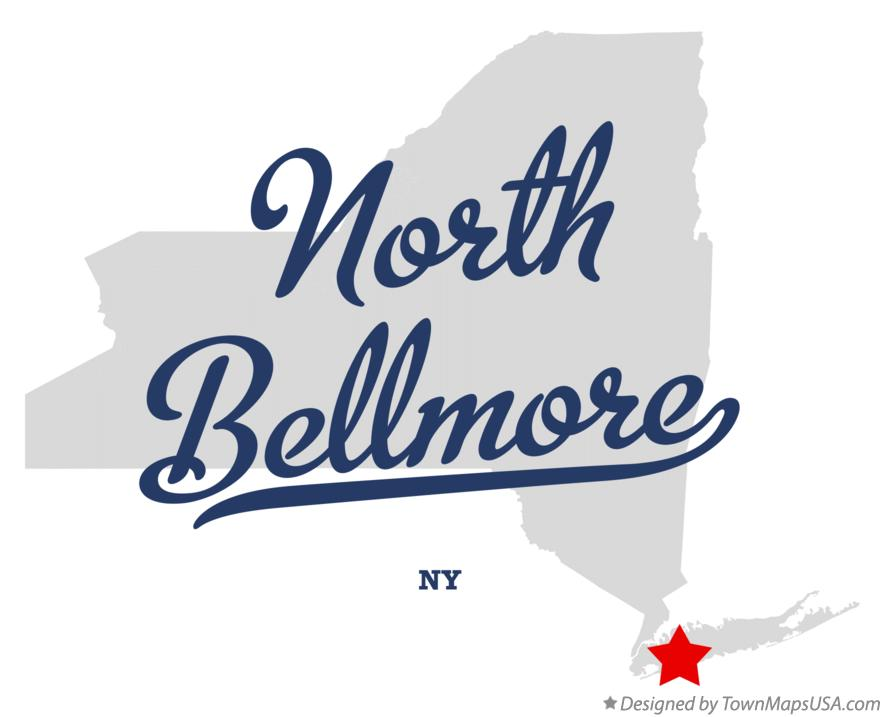 Map of North Bellmore New York NY