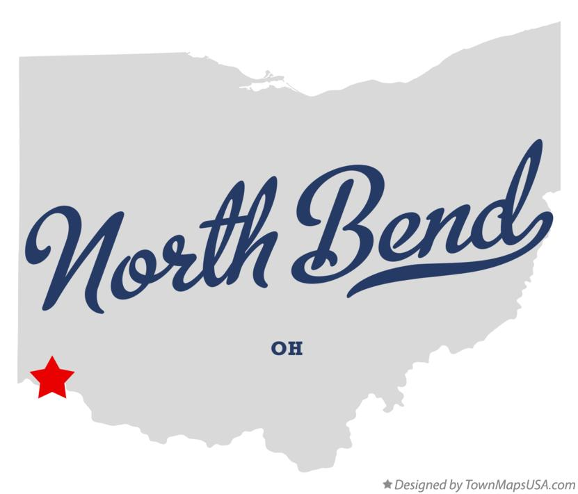 Map of North Bend Ohio OH