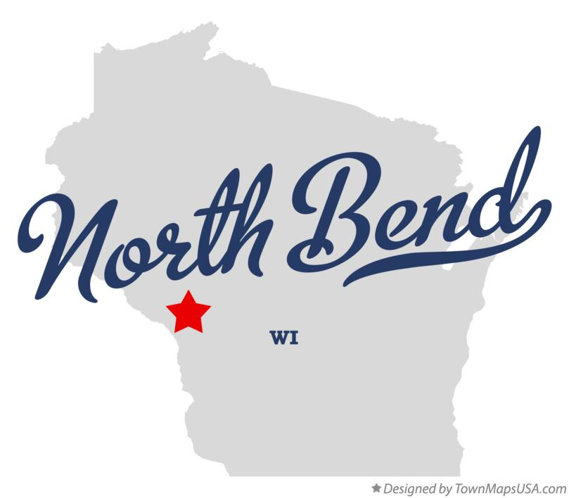 Map of North Bend Wisconsin WI