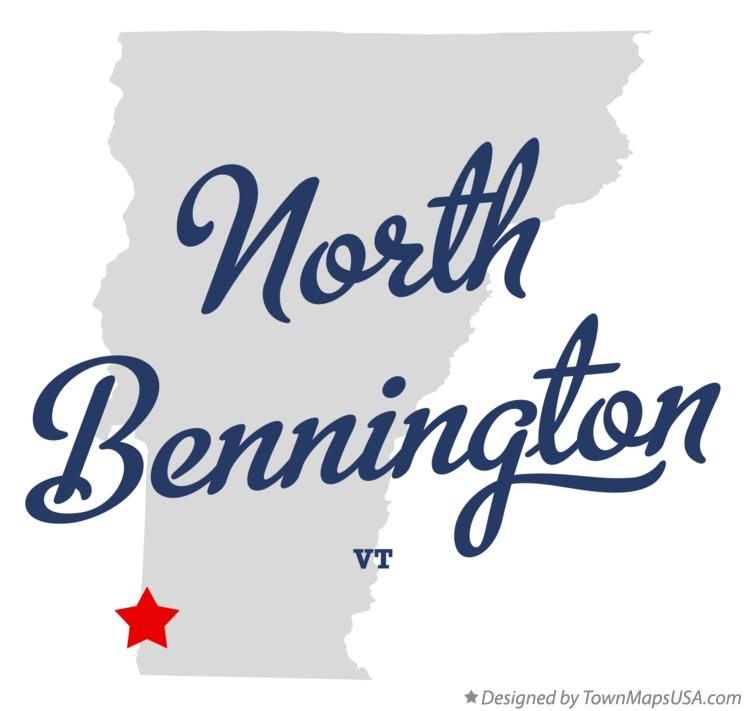 Map of North Bennington Vermont VT