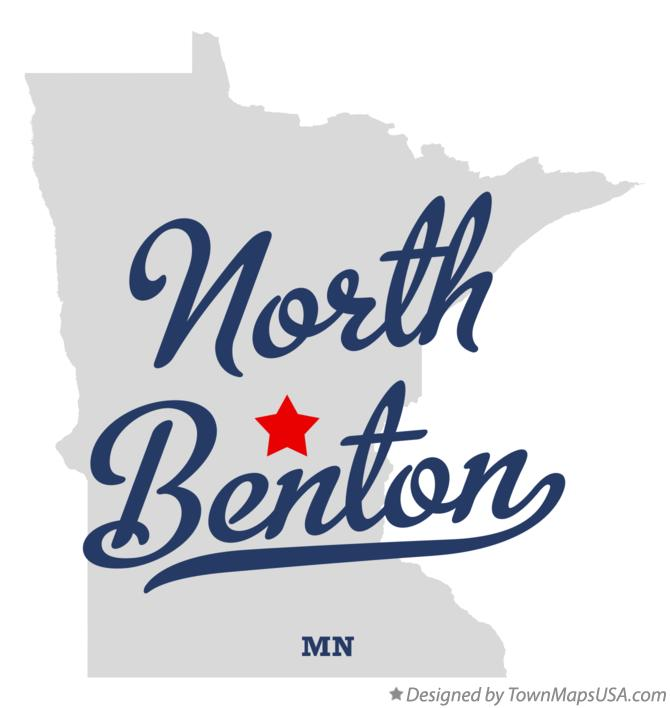 Map of North Benton Minnesota MN