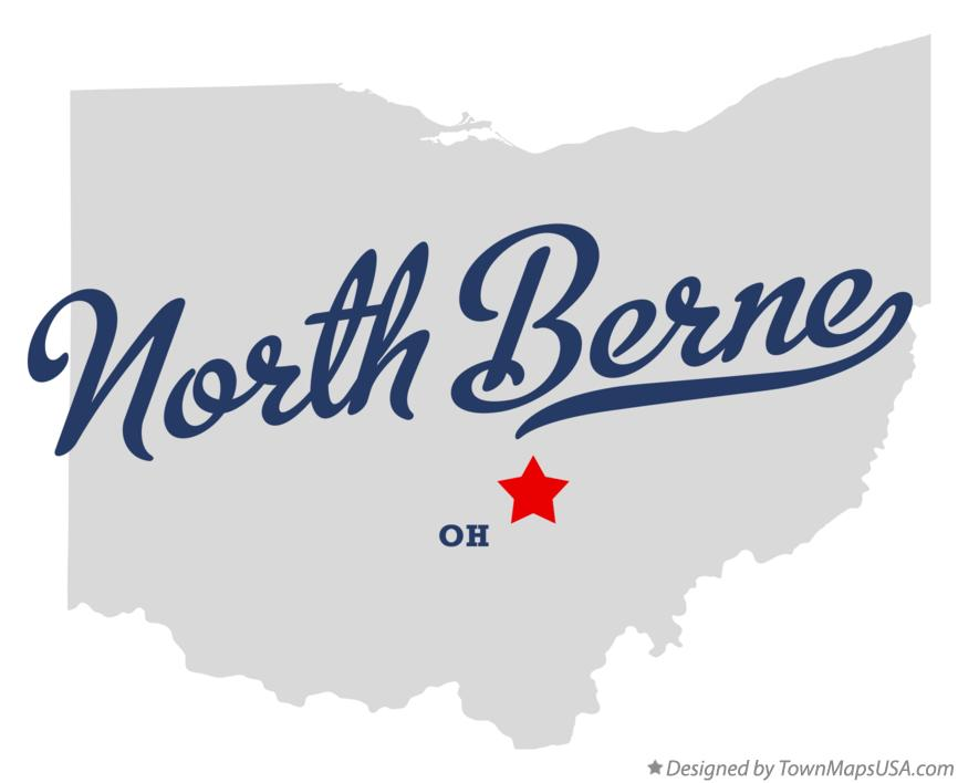 Map of North Berne Ohio OH
