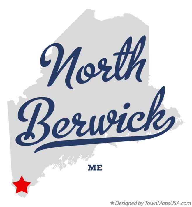 Map of North Berwick Maine ME