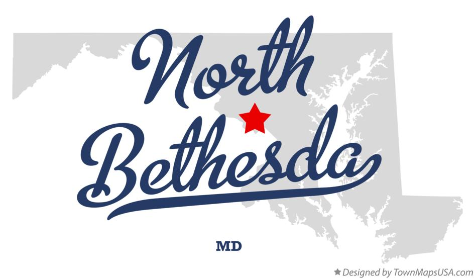 Map of North Bethesda Maryland MD