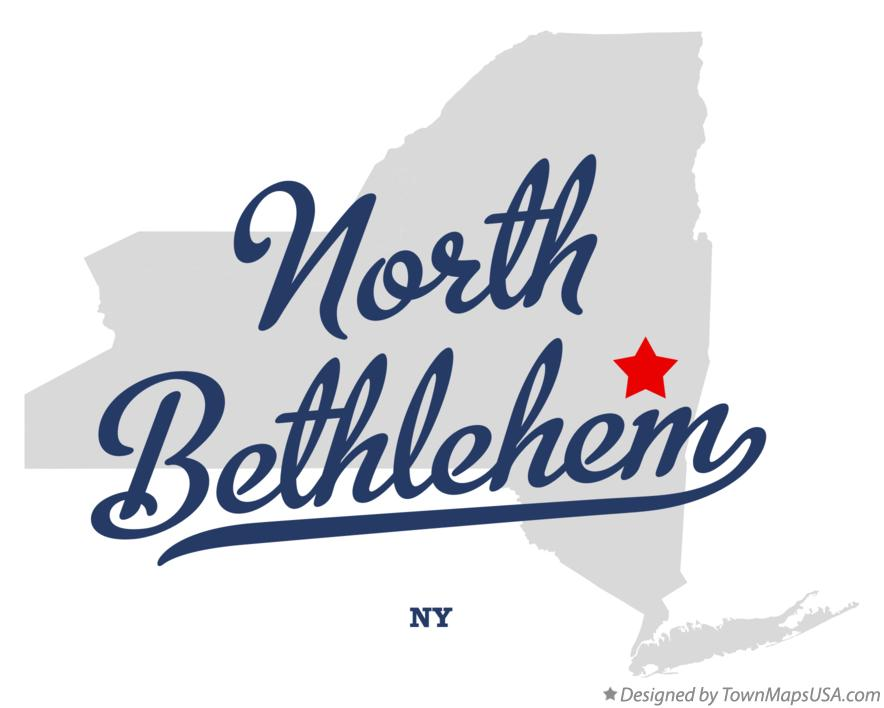 Map of North Bethlehem New York NY