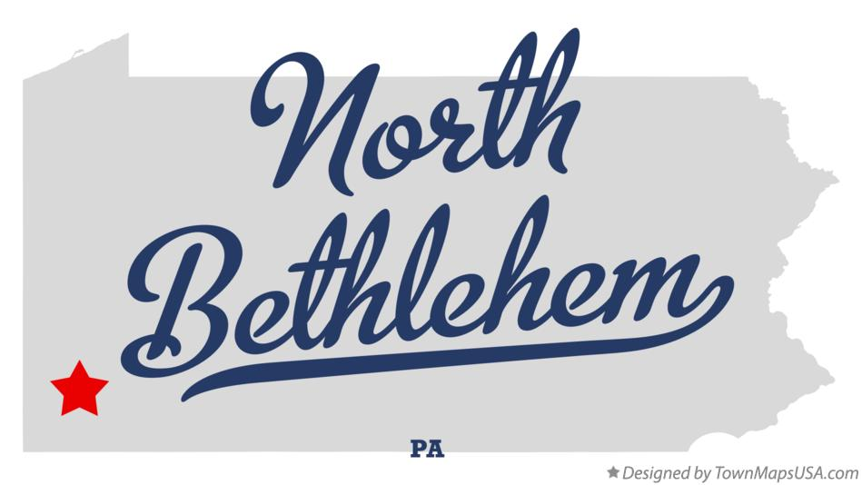 Map of North Bethlehem Pennsylvania PA