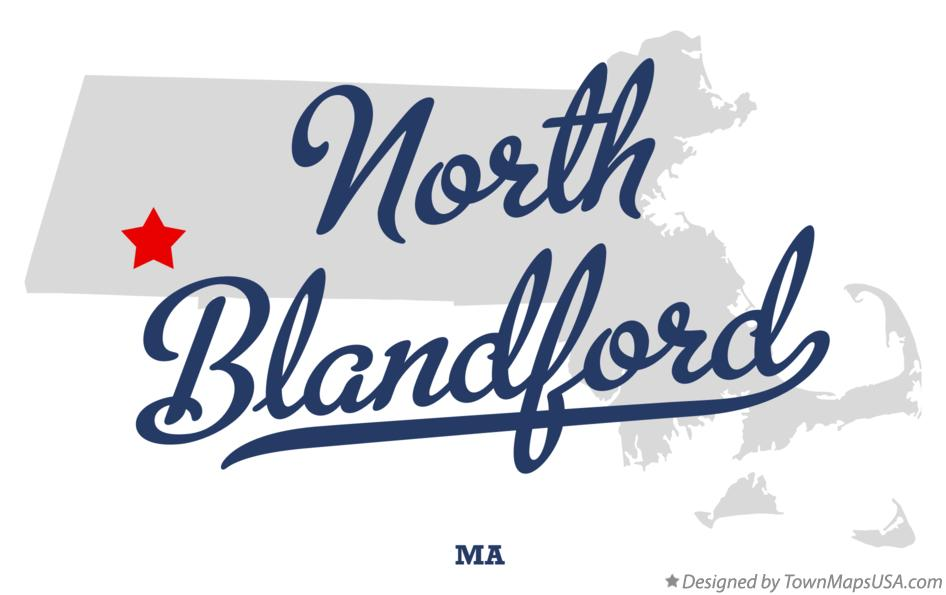 Map of North Blandford Massachusetts MA