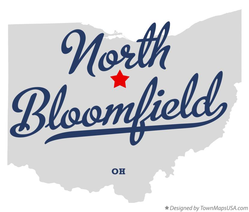 Map of North Bloomfield Ohio OH