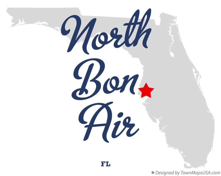Map of North Bon Air Florida FL