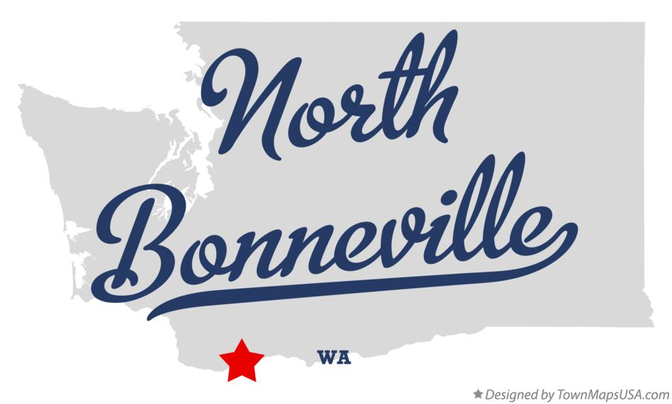 Map of North Bonneville Washington WA
