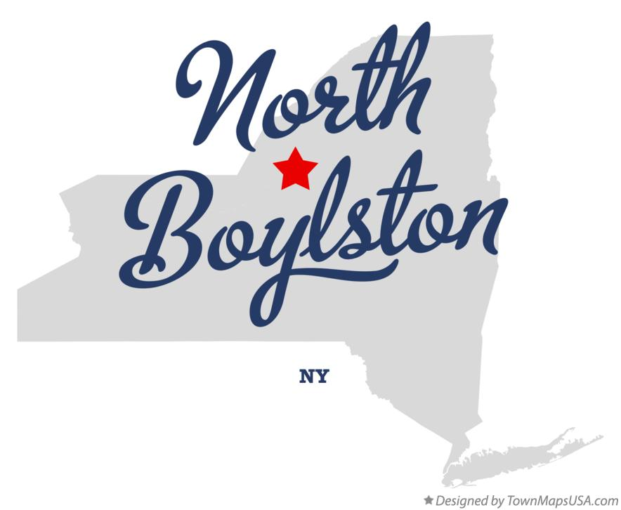 Map of North Boylston New York NY