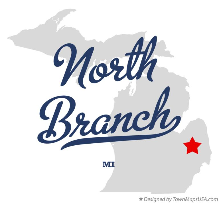 Map of North Branch Michigan MI