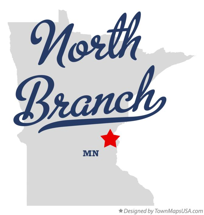 Map of North Branch Minnesota MN