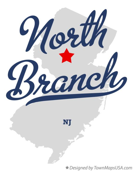 Map of North Branch New Jersey NJ