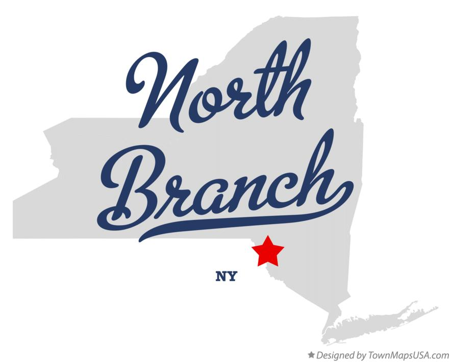 Map of North Branch New York NY