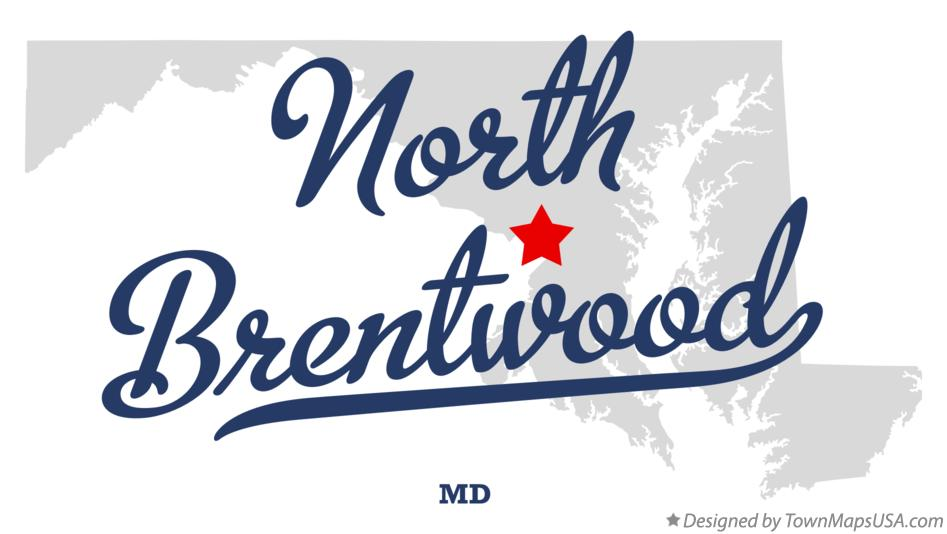 Map of North Brentwood Maryland MD