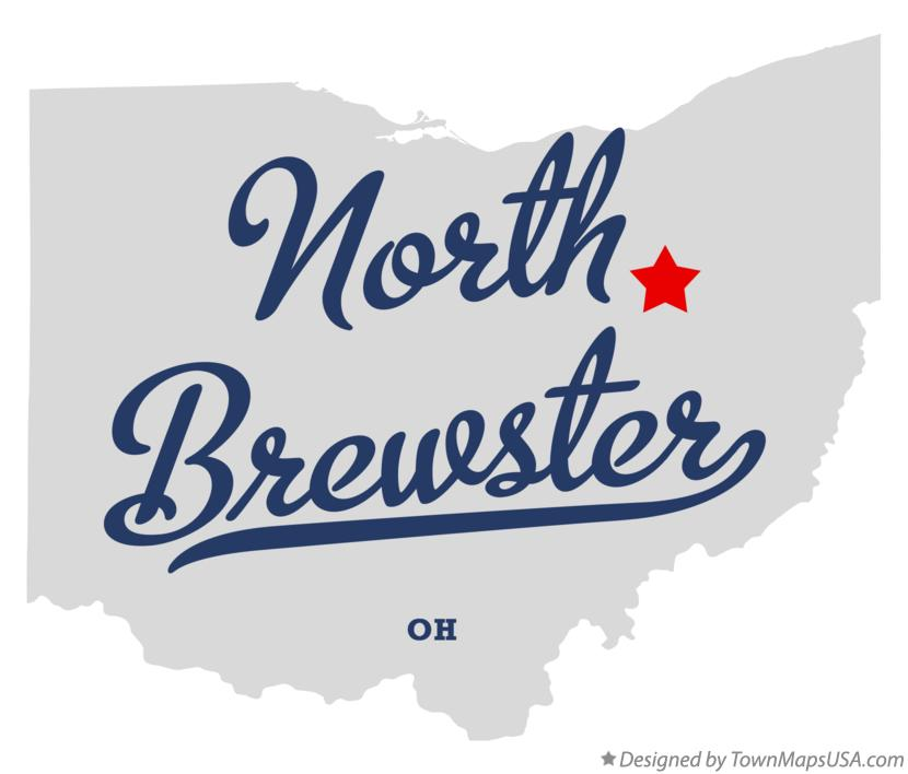 Map of North Brewster Ohio OH