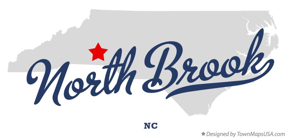 Map of North Brook North Carolina NC