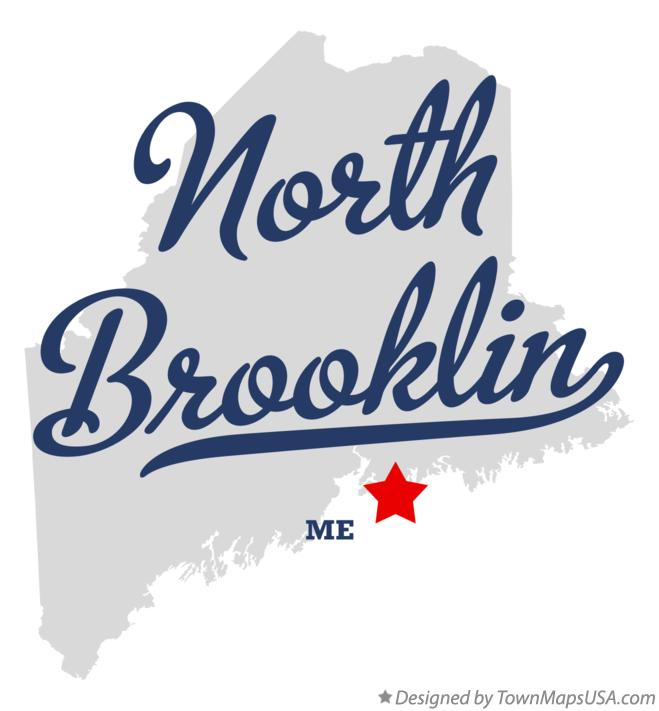 Map of North Brooklin Maine ME