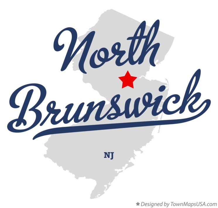 Map of North Brunswick New Jersey NJ