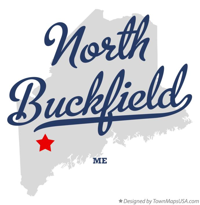 Map of North Buckfield Maine ME