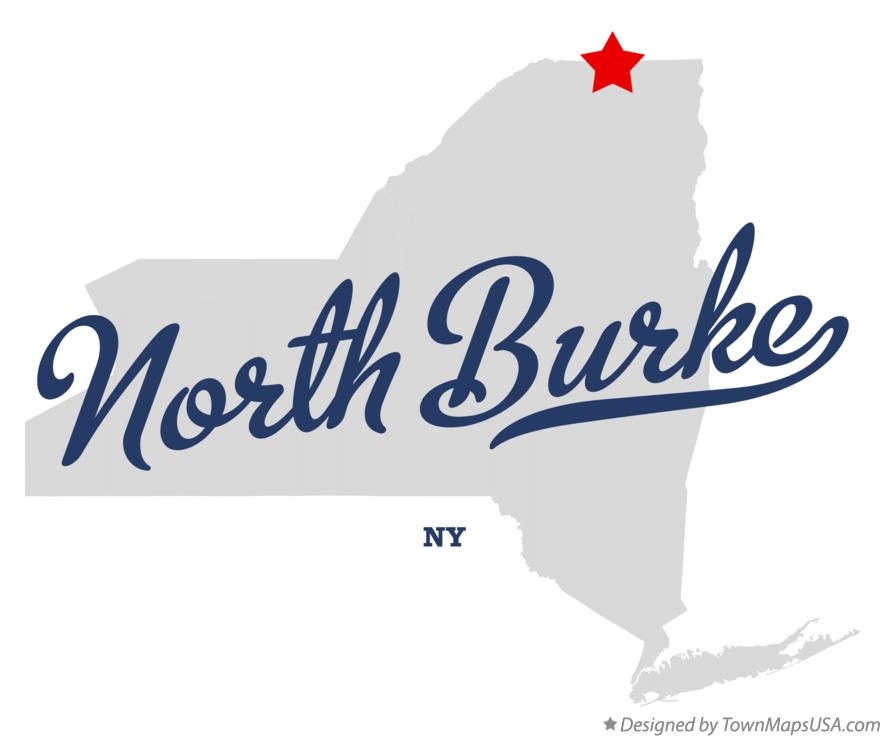 Map of North Burke New York NY