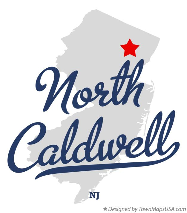 Map of North Caldwell New Jersey NJ