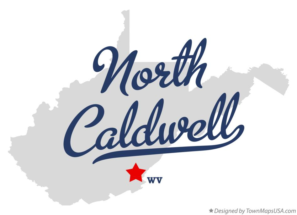 Map of North Caldwell West Virginia WV