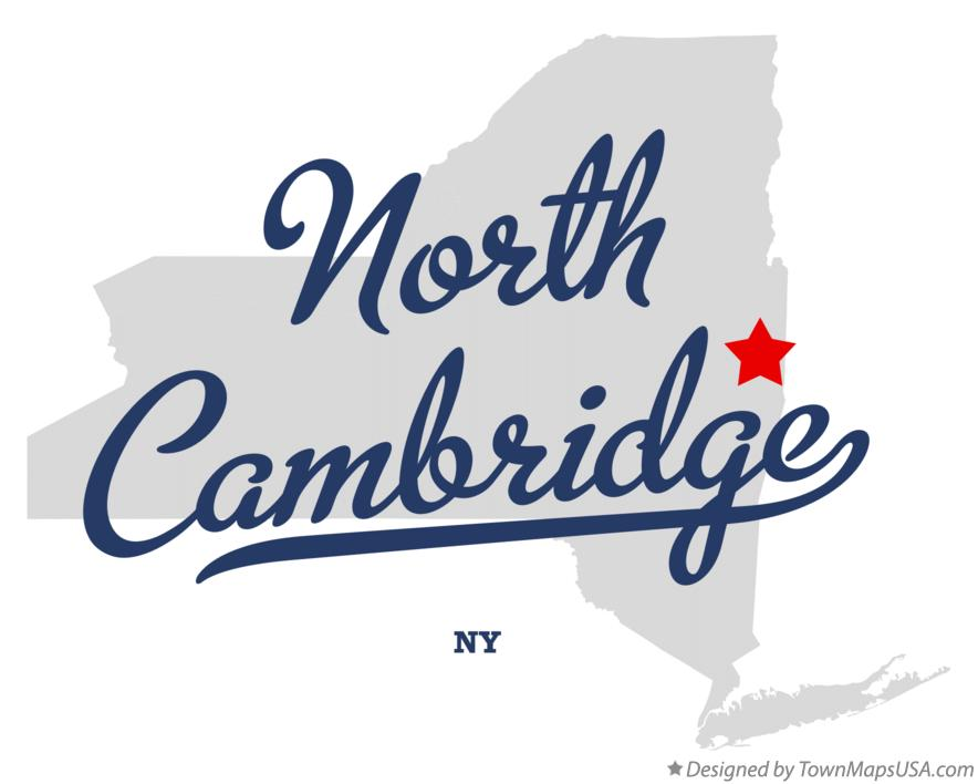 Map of North Cambridge New York NY