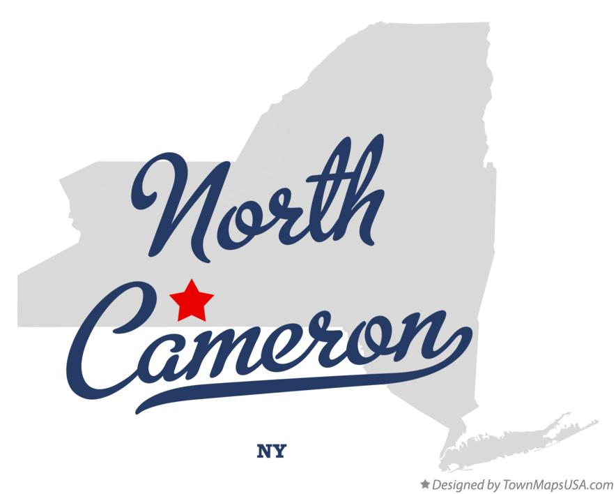 Map of North Cameron New York NY