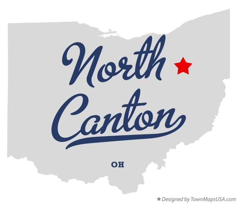 Map of North Canton Ohio OH
