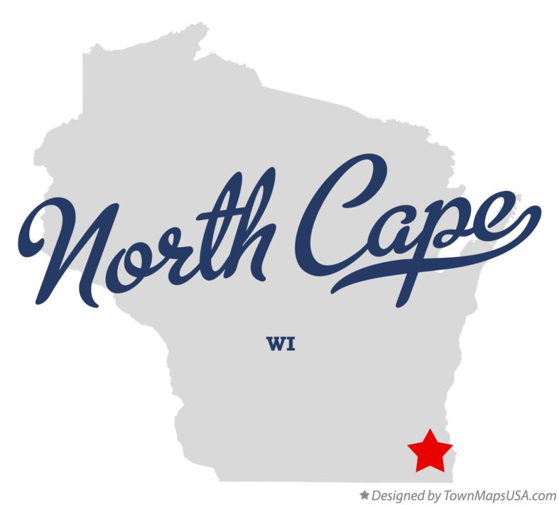 Map of North Cape Wisconsin WI