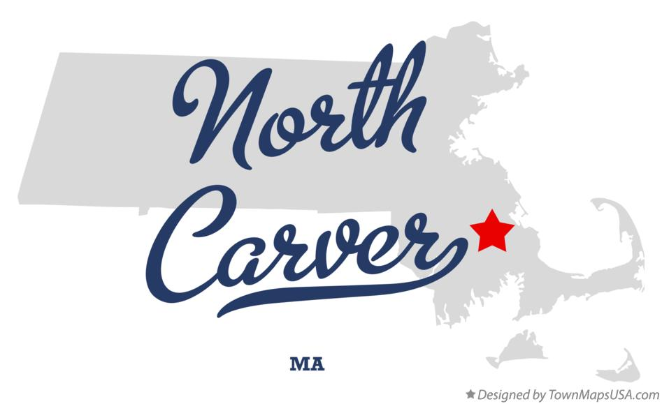 Map of North Carver Massachusetts MA