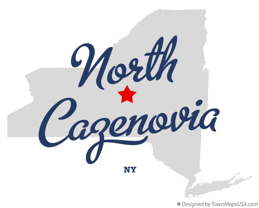 Map of North Cazenovia New York NY
