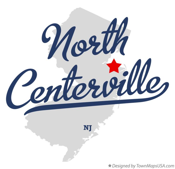 Map of North Centerville New Jersey NJ