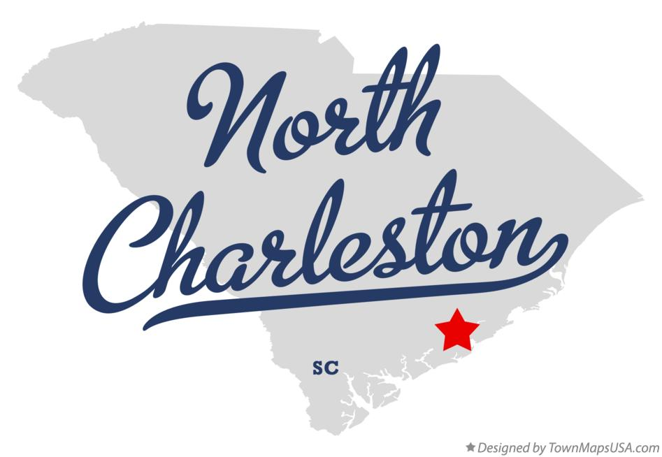 Map of North Charleston South Carolina SC
