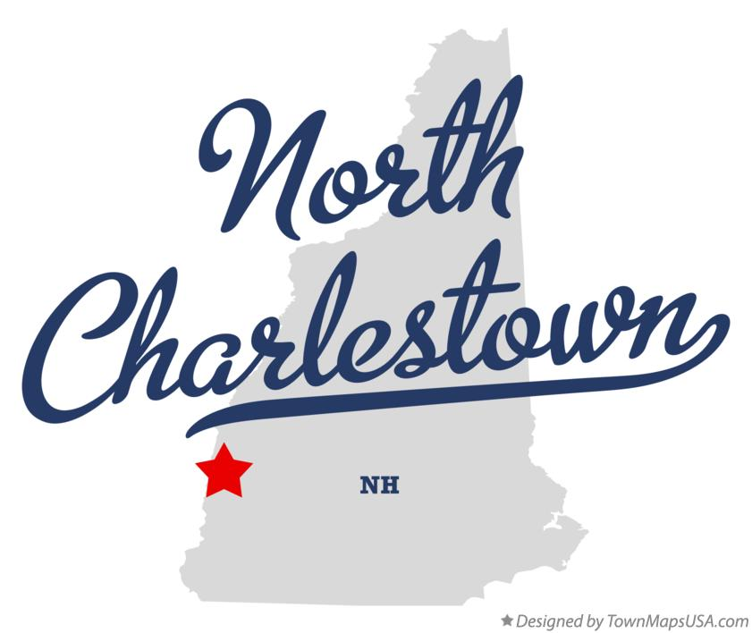 Map of North Charlestown New Hampshire NH