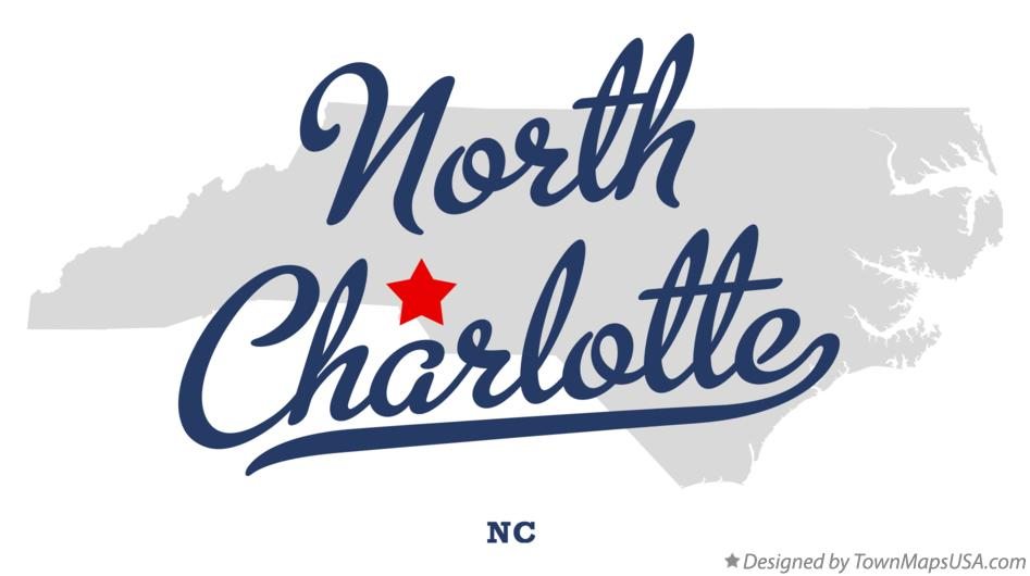 Charlotte Nc Map Usa.Map Of North Charlotte Nc North Carolina