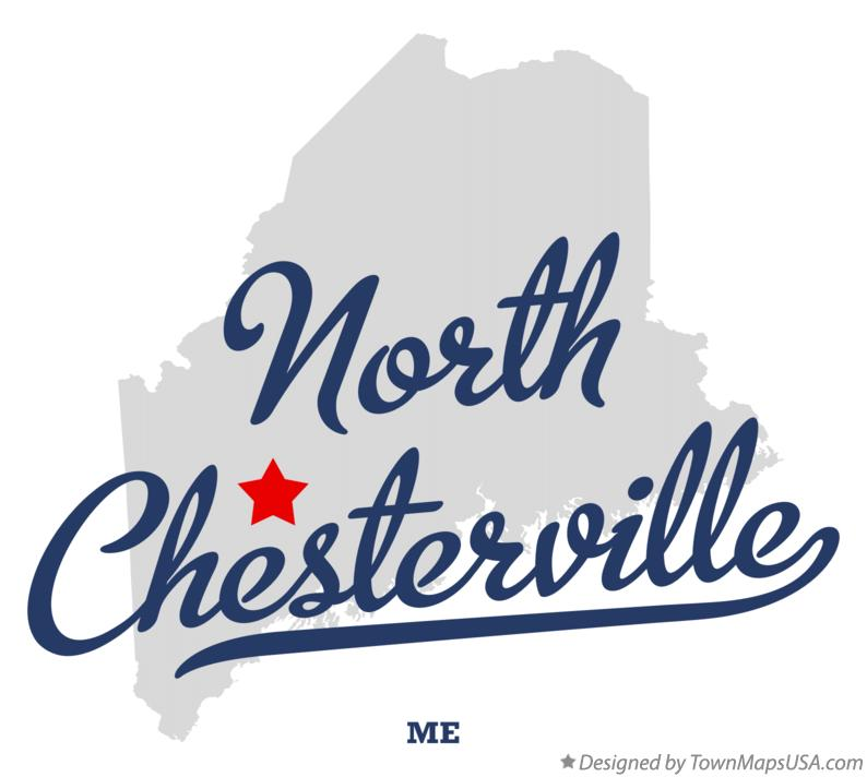 Map of North Chesterville Maine ME