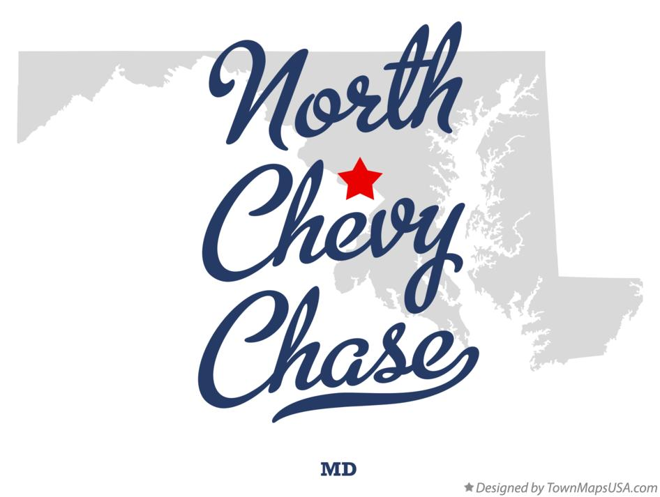 Map of North Chevy Chase Maryland MD
