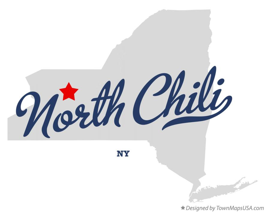 Map of North Chili New York NY