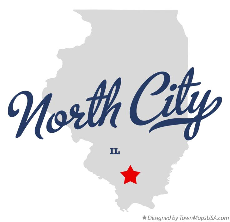 Map of North City Illinois IL