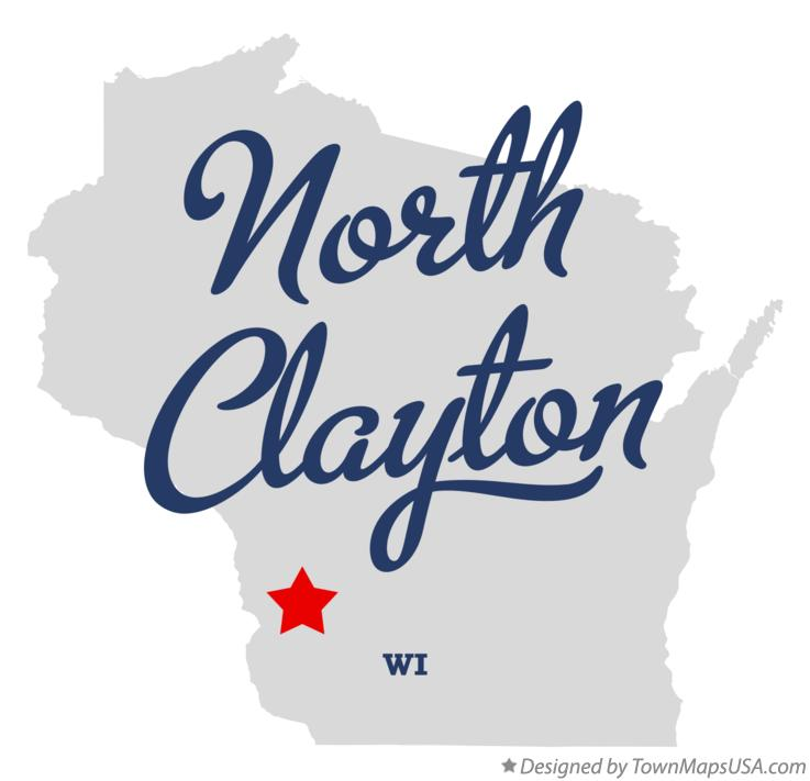 Map of North Clayton Wisconsin WI
