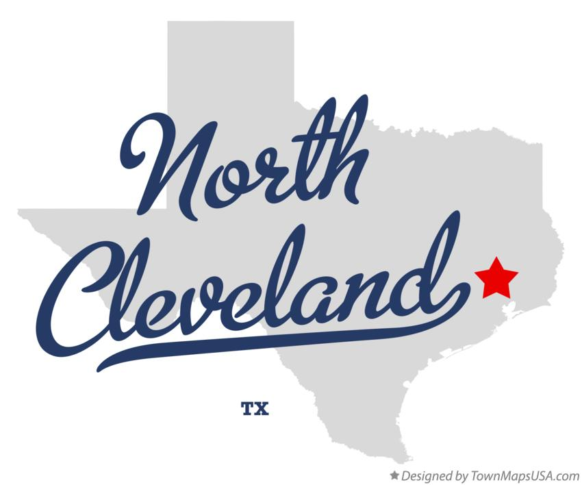 Map of North Cleveland Texas TX