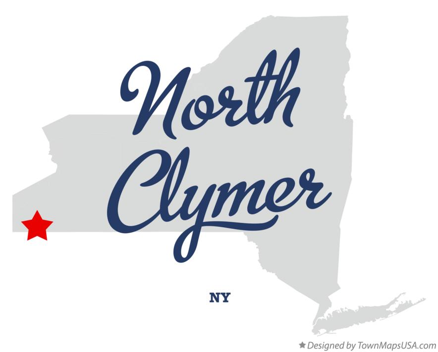 Map of North Clymer New York NY